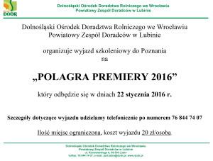 Polagra premiery 2016