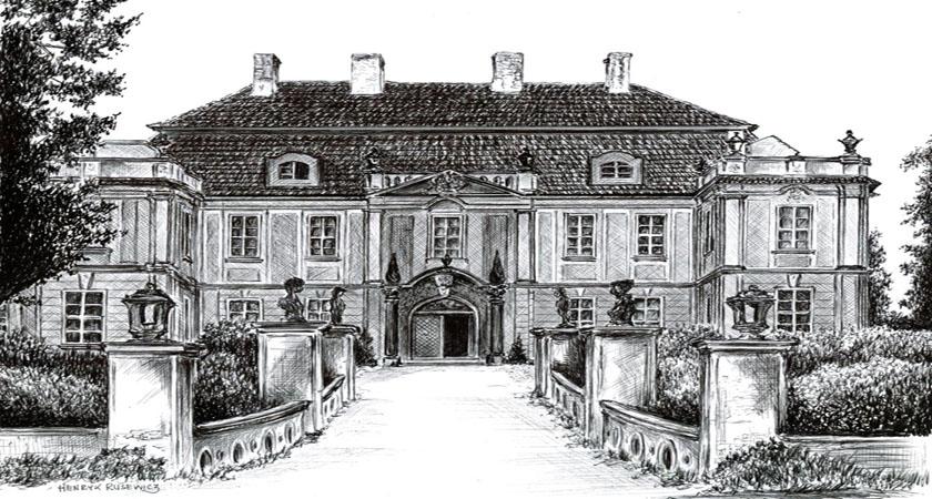 ruiny pałacu raszowa