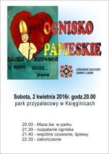 2016-OGNISKO PAPIESKIE-Księginice