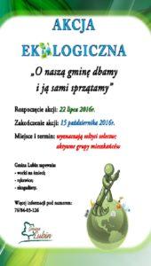 plakat akcja ekologiczna