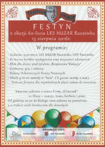 Festyn 60-lecie LKS Huzar
