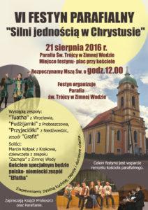 PLAKAT FESTYN Zimna Woda 2016 r.
